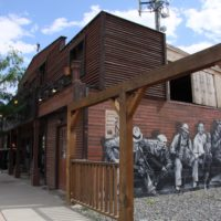 Wall art on building merritt BC