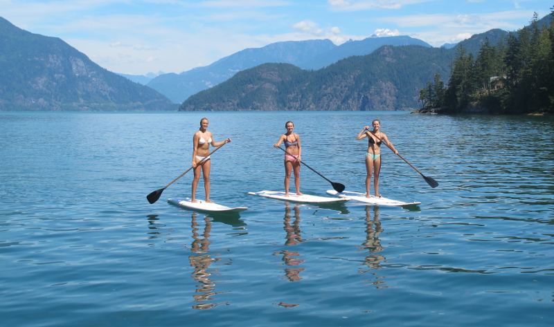 Paddle boarding Gambier Island in Howe Sound